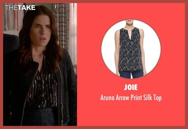 Joie black top from How To Get Away With Murder seen with Laurel Castillo (Karla Souza)