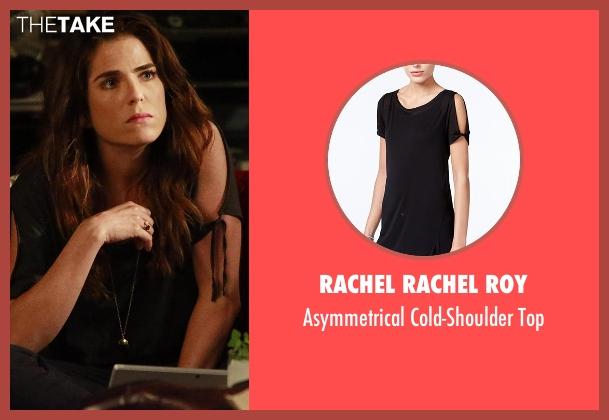 Rachel Rachel Roy black top from How To Get Away With Murder seen with Laurel Castillo (Karla Souza)