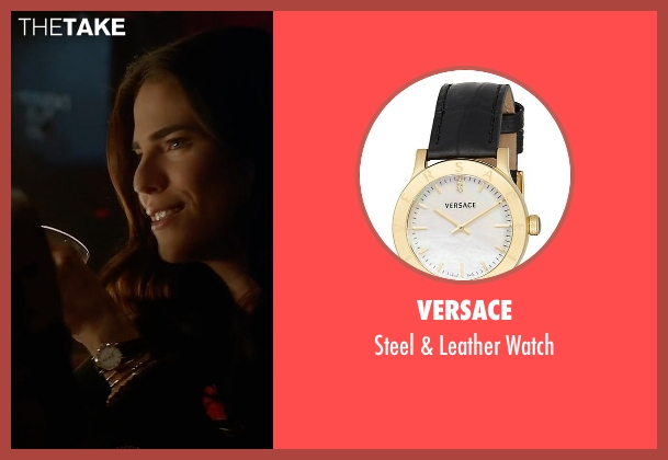 Versace black watch from How To Get Away With Murder seen with Laurel Castillo (Karla Souza)