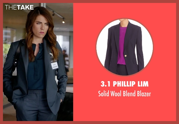 3.1 Phillip Lim blue blazer from How To Get Away With Murder seen with Laurel Castillo (Karla Souza)