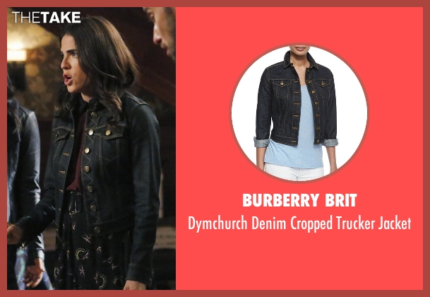 Burberry Brit blue jacket from How To Get Away With Murder seen with Laurel Castillo (Karla Souza)