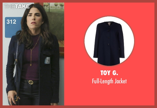 Toy G. blue jacket from How To Get Away With Murder seen with Laurel Castillo (Karla Souza)