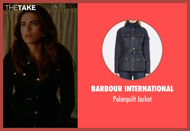 Barbour International blue jacket from How To Get Away With Murder seen with Laurel Castillo (Karla Souza)
