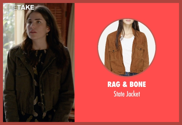 Rag & Bone brown jacket from How To Get Away With Murder seen with Laurel Castillo (Karla Souza)