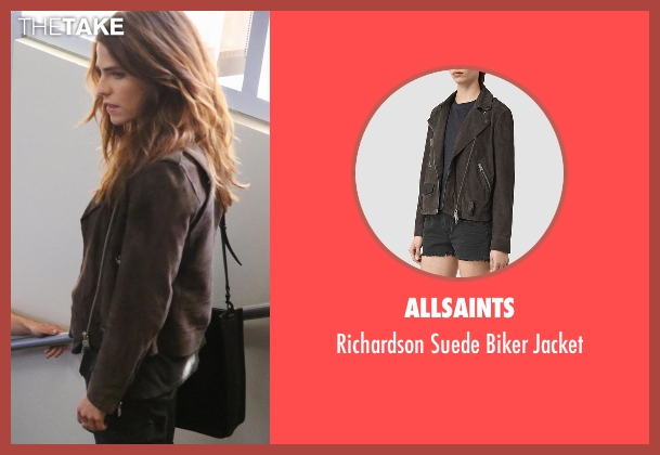 AllSaints brown jacket from How To Get Away With Murder seen with Laurel Castillo (Karla Souza)