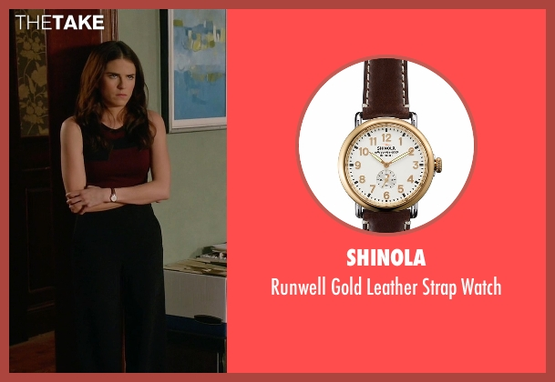 Shinola brown watch from How To Get Away With Murder seen with Laurel Castillo (Karla Souza)