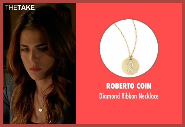 Roberto Coin gold necklace from How To Get Away With Murder seen with Laurel Castillo (Karla Souza)