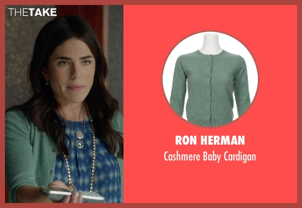 Ron Herman green cardigan from How To Get Away With Murder seen with Laurel Castillo (Karla Souza)