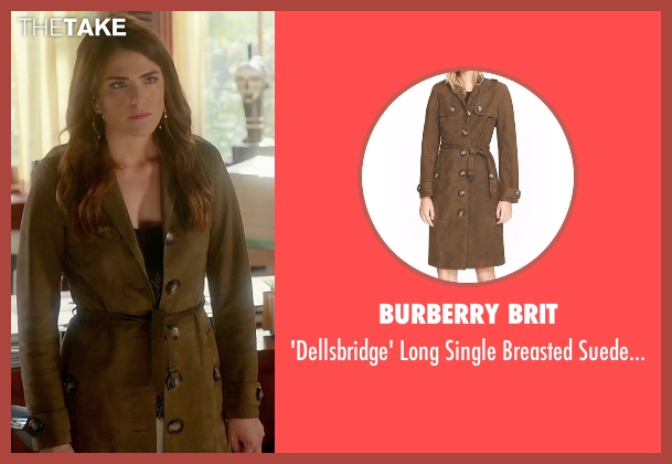Burberry Brit green coat from How To Get Away With Murder seen with Laurel Castillo (Karla Souza)