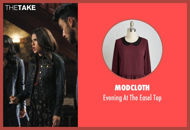ModCloth red top from How To Get Away With Murder seen with Laurel Castillo (Karla Souza)