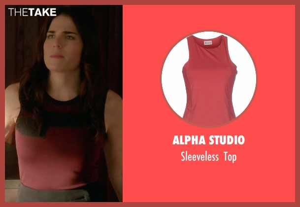 Alpha Studio red top from How To Get Away With Murder seen with Laurel Castillo (Karla Souza)