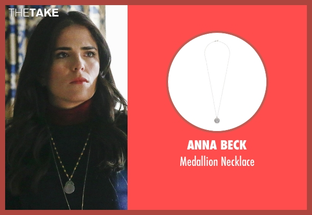 Anna Beck silver necklace from How To Get Away With Murder seen with Laurel Castillo (Karla Souza)