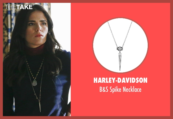 Harley-Davidson silver necklace from How To Get Away With Murder seen with Laurel Castillo (Karla Souza)