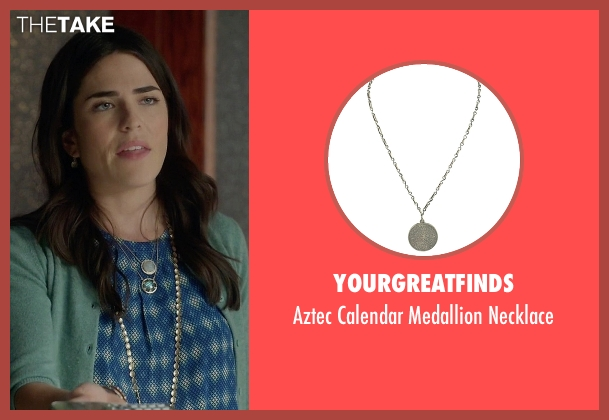 Yourgreatfinds silver necklace from How To Get Away With Murder seen with Laurel Castillo (Karla Souza)