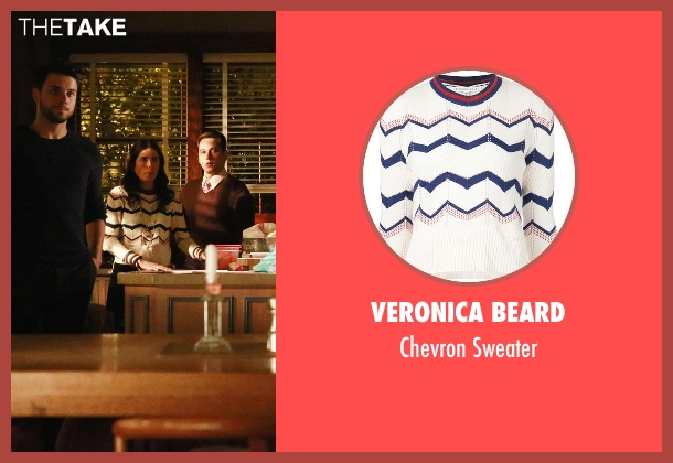 Veronica Beard white sweater from How To Get Away With Murder seen with Laurel Castillo (Karla Souza)