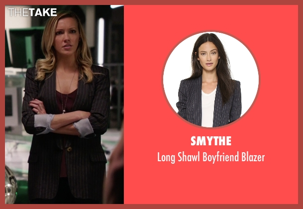 SMYTHE black blazer from Arrow seen with Laurel Lance/Black Canary (Katie Cassidy)