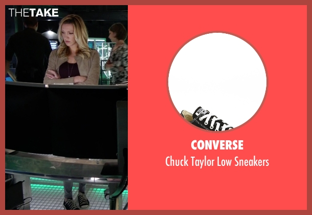Converse black sneakers from Arrow seen with Laurel Lance/Black Canary (Katie Cassidy)
