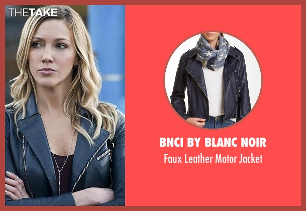 BNCI by Blanc Noir blue jacket from Arrow seen with Laurel Lance/Black Canary (Katie Cassidy)