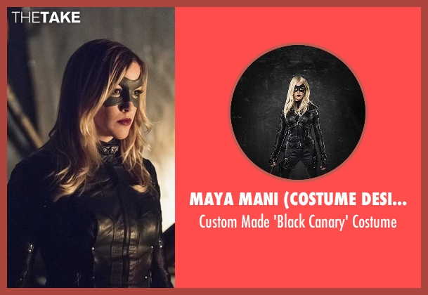 Maya Mani (Costume Designer) costume from Arrow seen with Laurel Lance/Black Canary (Katie Cassidy)
