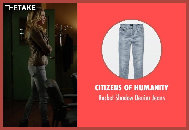 Citizens of Humanity gray jeans from Arrow seen with Laurel Lance/Black Canary (Katie Cassidy)