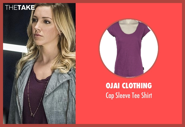 Ojai Clothing purple shirt from Arrow seen with Laurel Lance/Black Canary (Katie Cassidy)