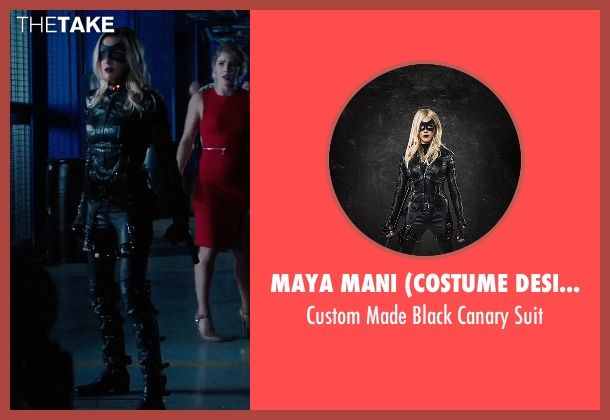 Maya Mani (Costume Designer) suit from Arrow seen with Laurel Lance/Black Canary (Katie Cassidy)