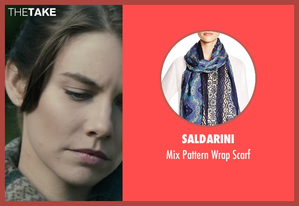 Saldarini blue scarf from The Boy seen with Lauren Cohan (Greta)