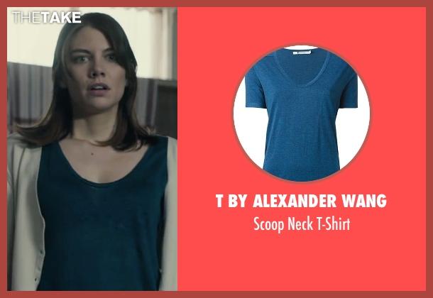 T by Alexander Wang blue t-shirt from The Boy seen with Lauren Cohan (Greta)