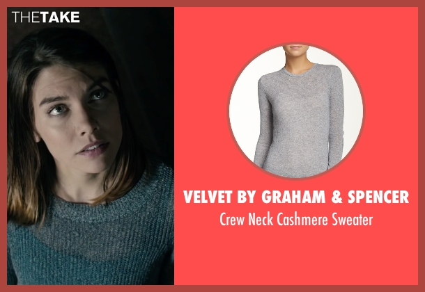 Velvet By Graham & Spencer gray sweater from The Boy seen with Lauren Cohan (Greta)