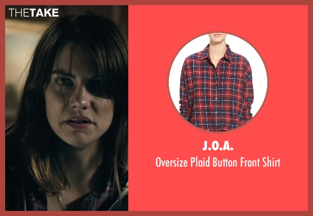 J.O.A. red shirt from The Boy seen with Lauren Cohan (Greta)