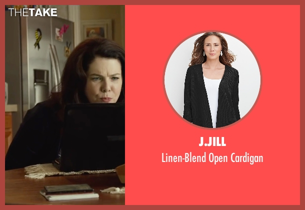 J.Jill black cardigan from Max seen with Lauren Graham (Pamela)