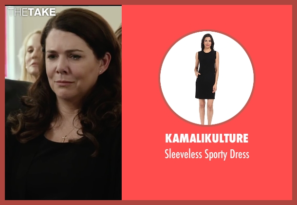 Kamalikulture black dress from Max seen with Lauren Graham (Pamela)