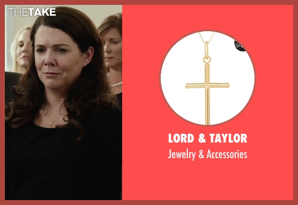 Lord & Taylor gold accessories from Max seen with Lauren Graham (Pamela)