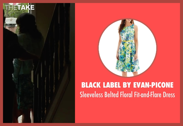 Black Label by Evan-Picone green dress from Max seen with Lauren Graham (Pamela)