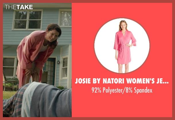 Josie By Natori Women's Jet Set Robe pink spandex from Max seen with Lauren Graham (Pamela)