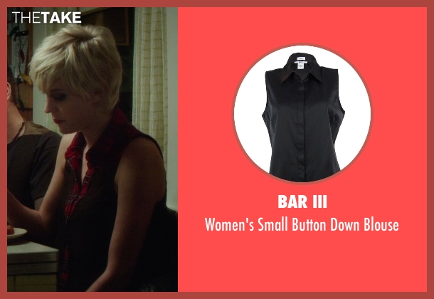 Bar III black blouse from If I Stay seen with Lauren Lee Smith (Willow)