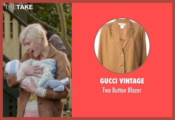 Gucci Vintage brown blazer from If I Stay seen with Lauren Lee Smith (Willow)