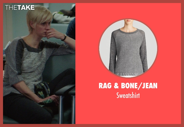 Rag & Bone/JEAN gray sweatshirt from If I Stay seen with Lauren Lee Smith (Willow)