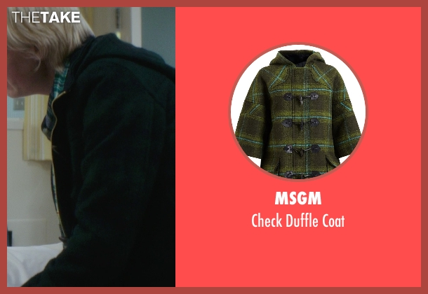 MSGM green coat from If I Stay seen with Lauren Lee Smith (Willow)
