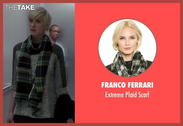 Franco Ferrari green scarf from If I Stay seen with Lauren Lee Smith (Willow)