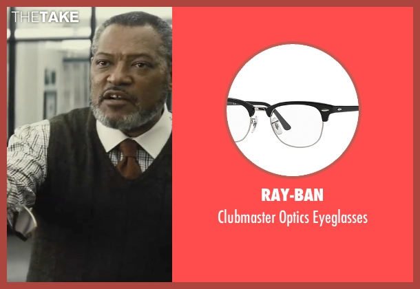Ray-Ban black eyeglasses from Batman v Superman: Dawn of Justice seen with Laurence Fishburne (Perry White)