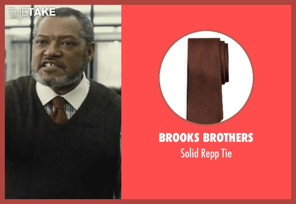 Brooks Brothers brown tie from Batman v Superman: Dawn of Justice seen with Laurence Fishburne (Perry White)