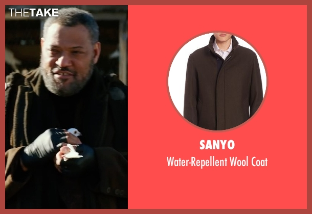 Vince brown coat from John Wick: Chapter 2 seen with Laurence Fishburne (The Bowler King)