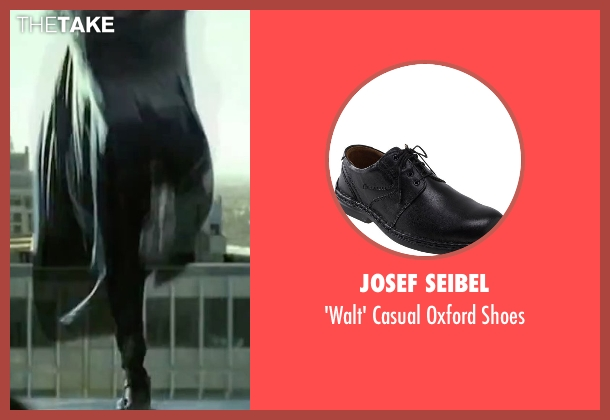Josef Seibel black shoes from The Matrix seen with Laurence Fishburne (Morpheus)