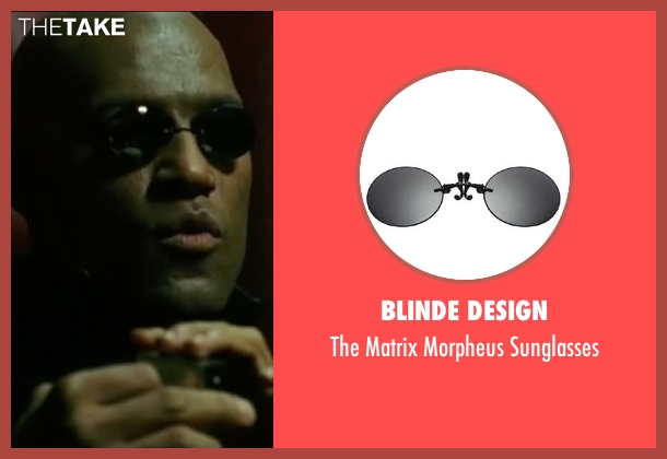 Blinde Design black sunglasses from The Matrix seen with Laurence Fishburne (Morpheus)