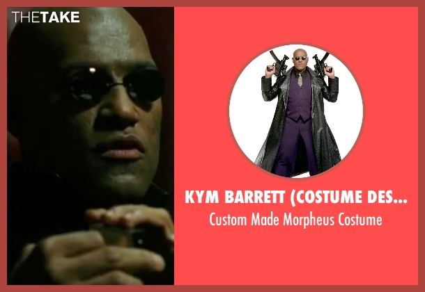 Kym Barrett (Costume Designer) costume from The Matrix seen with Laurence Fishburne (Morpheus)