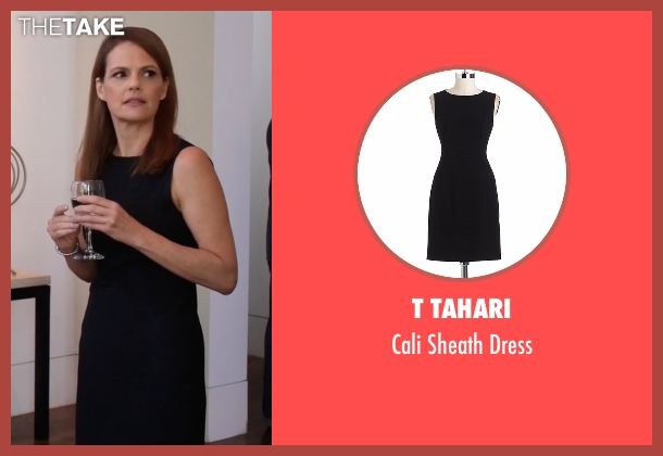 T Tahari black dress from Silicon Valley seen with Laurie Bream (Suzanne Cryer)
