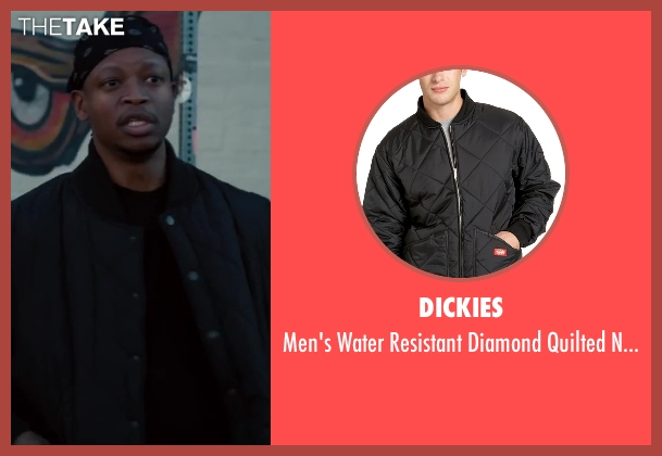 Dickies black jacket from Walk of Shame seen with Lawrence Gilliard Jr.