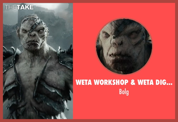 Weta Workshop & Weta Digital bolg from The Hobbit: The Battle of The Five Armies seen with Lawrence Makoare (Bolg)