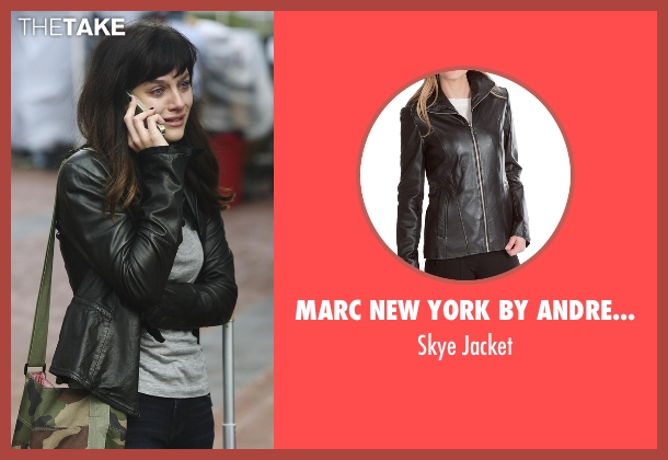 Marc New York By Andrew Marc black jacket from Nashville seen with Layla Grant (Aubrey Peeples)